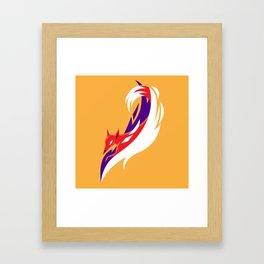Here comes the fox Framed Art Print