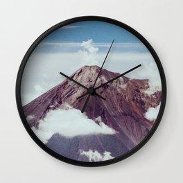 Volcano & Clouds Wall Clock