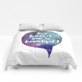 God bless it, you're beautiful! (Valentine Love Note) Comforters