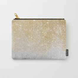 Gold and Silver Glitter Ombre Luxury Design Carry-All Pouch