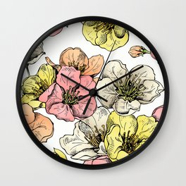 Colorful Poppies Wall Clock