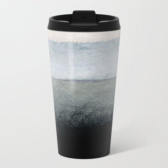 shades of grey Metal Travel Mug