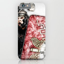 Portrait of a Roman Legionary iPhone Case