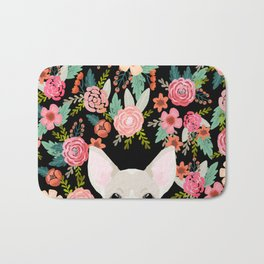 Chihuahua face floral dog breed cute pet gifts pure breed dog lovers chihuahuas Bath Mat
