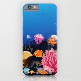 Beautiful Coral Reef Animals iPhone Case