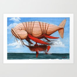 Koi Series, Dr. Wunderkins Amazing Aeronautical Transport Art Print