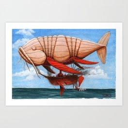 Koi Series, Dr. Wunderkins Amazing Aeronautical Transport Art Print
