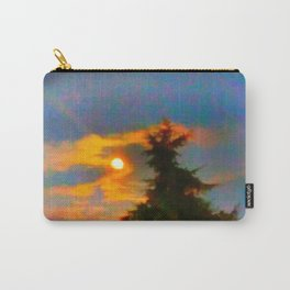 Sunrise and Fir Tree Carry-All Pouch