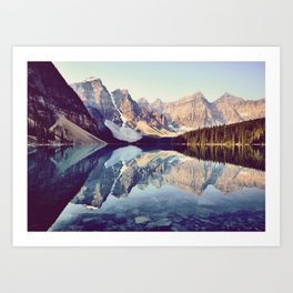 Moraine Lake Reflection Art Print