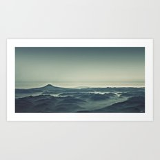 Emerald Waves Art Print
