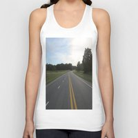 road Tank Tops featuring Road  by jyoshimitsuj