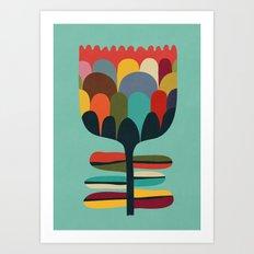 Flower Poet Art Print