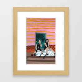 porch bed~ Framed Art Print