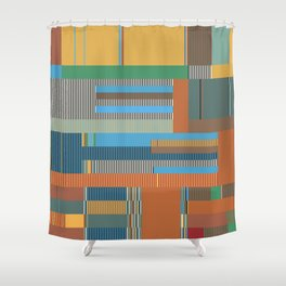 Scandinavian Moon (Nature Trail Colours) Shower Curtain