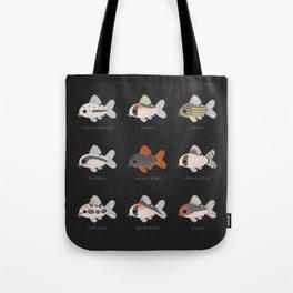 Corydoras! - black Tote Bag