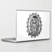calavera Laptop & iPad Skins featuring Mrs Calavera by Cobrinha