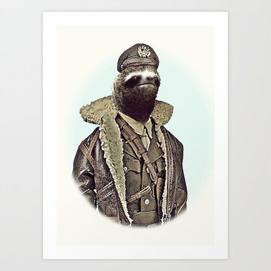 LIKE A SLOTH. Art Print