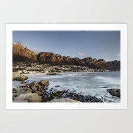Sunset in Camps Bay, Cape Town Art Print