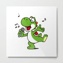 Yoshi Singing Metal Print