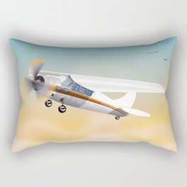 Learn to fly vintage plane poster print. Rectangular Pillow