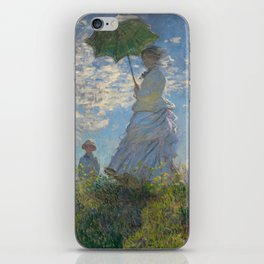 Claude Monet - Woman With A Parasol iPhone Skin