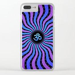 Shiva Om | Sacred geometry mandala Clear iPhone Case