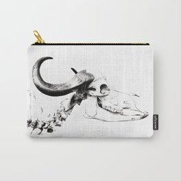 Water Buffalo - Pen & Ink Stippling Carry-All Pouch
