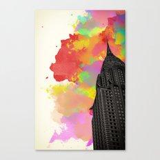 Chrysler Watercolour print Canvas Print