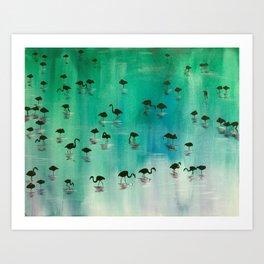 Flamingo Menagerie Art Print