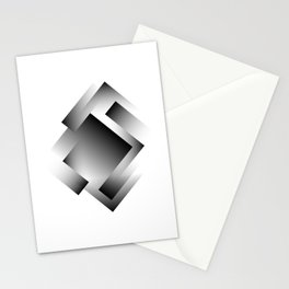 black color energy labyrinth Stationery Cards