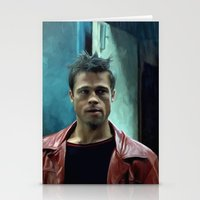 brad pitt Stationery Cards featuring Edward Norton and Brad Pitt by Gabriel T Toro