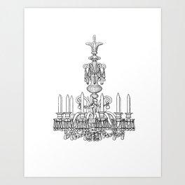 Chandelier art prints society6 antique chandelier print art print aloadofball Image collections