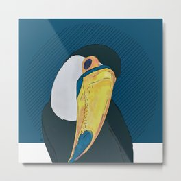 FEATHER FEST - TOUCAN Metal Print