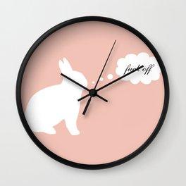 Happy Fuck Off Original Rabbit Wall Clock
