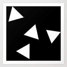 Simple Triangles Art Print