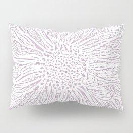 Single White Dahlia Lino Cut, Primrose Pink Pillow Sham