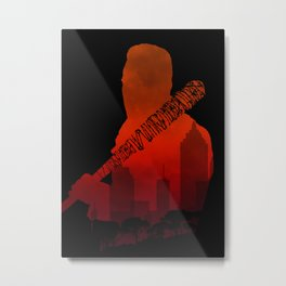 The Walking Dead - Negan and his beautiful Lucille Metal Print
