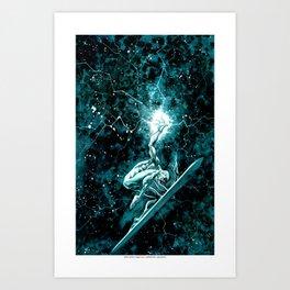 Silver Surfer watercolor Art Print