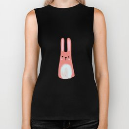 Happy rabbit in polka dots Biker Tank