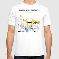 Foster the Friends MEDIUM White Mens Fitted Tee