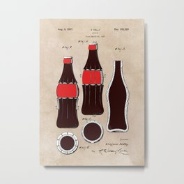 patent Bottle Metal Print
