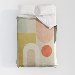 geometry abstract pastel Comforters