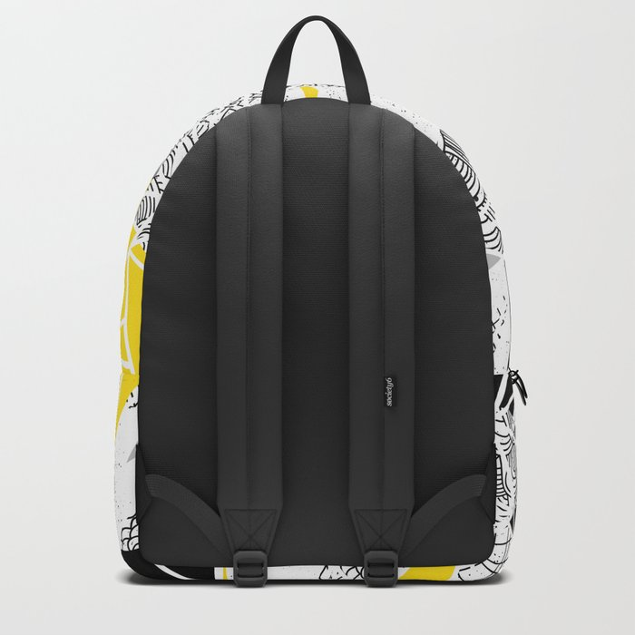 Geometric abstract textures Backpack