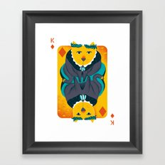 Cat the King of Diamonds Framed Art Print