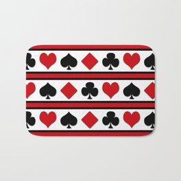Four card suits Bath Mat