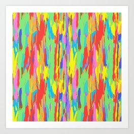 Rainbow Eucalyptus Tree Bark No. 1 Art Print