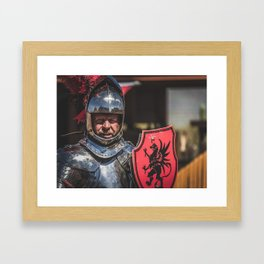 Knight of the Gryphon Framed Art Print