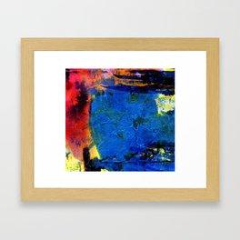 blue pot Framed Art Print