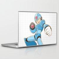mega man Laptop & iPad Skins featuring Mega-Man by HypersVE