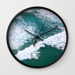 With Waves Wall Clock